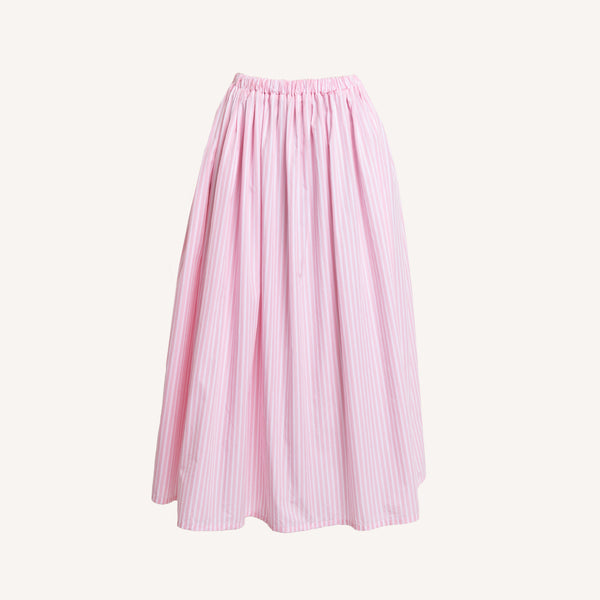 GALLEGO DESPORTES PINK STRIPED SKIRT
