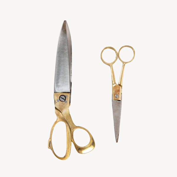 BRASS HANDLE SCISSORS