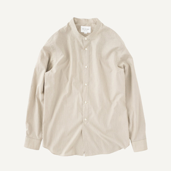 STILL BY HAND BAND COLLAR SHIRT