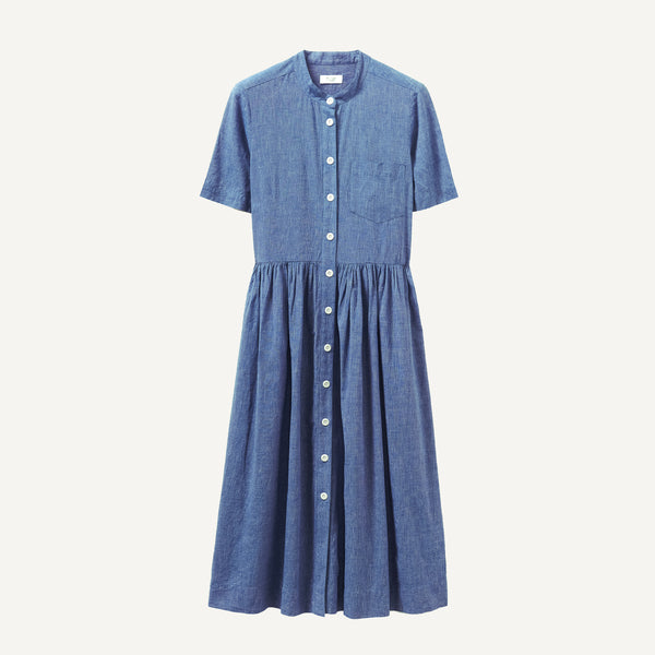 TOAST CHAMBRAY SHIRTDRESS