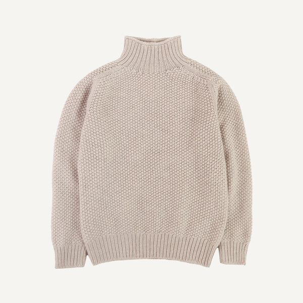 PLAIN GOODS WOMEN'S MOCK-TURTLENECK SWEATER