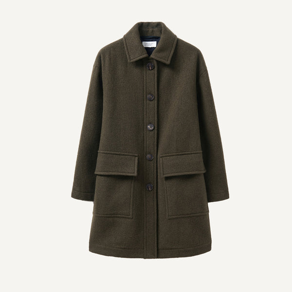 TOAST BOILED WOOL SHORT COAT