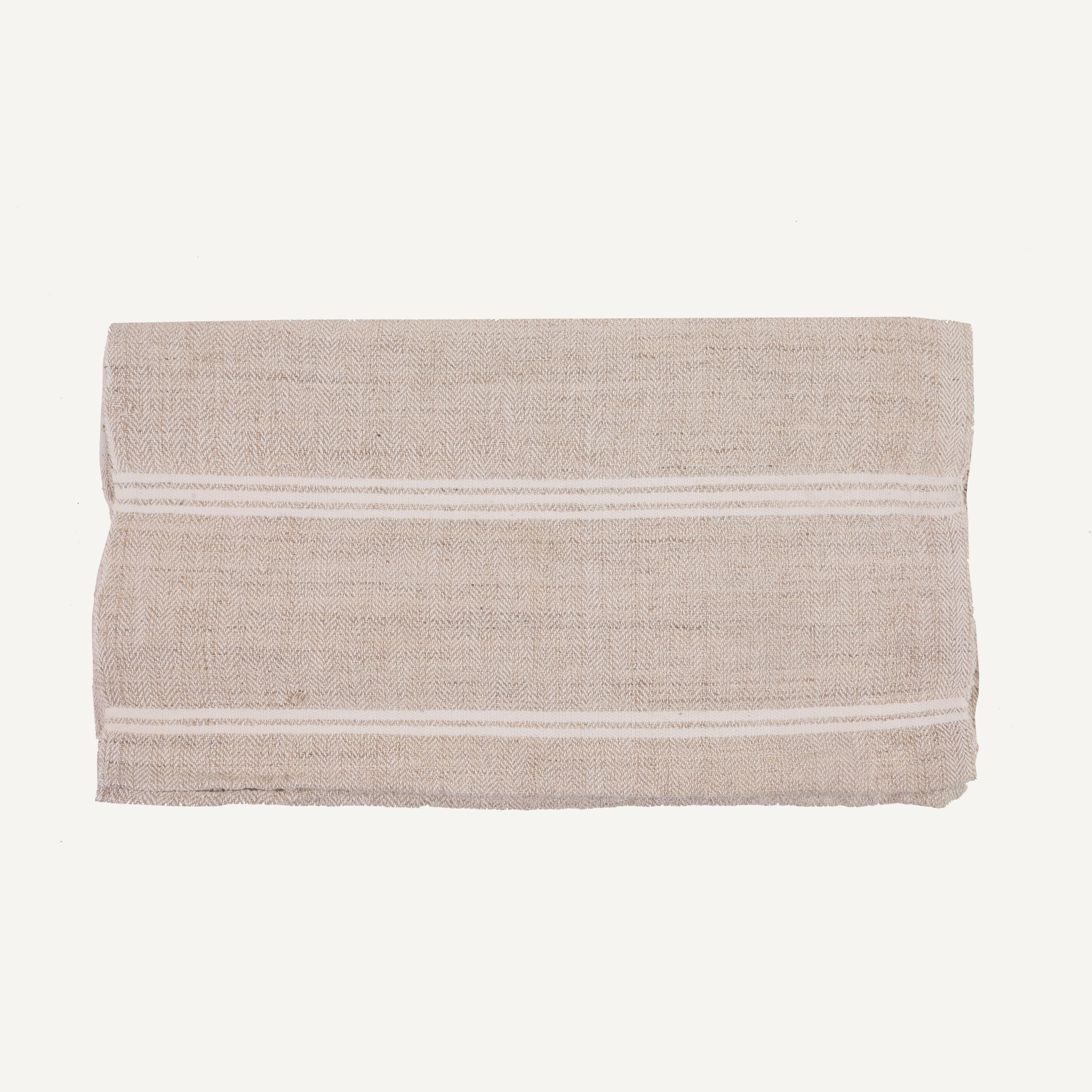 VINTAGE STRIPED HEMP TOWEL