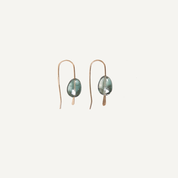 MARY MACGILL 14K GREEN TOURMALINE DROP EARRINGS