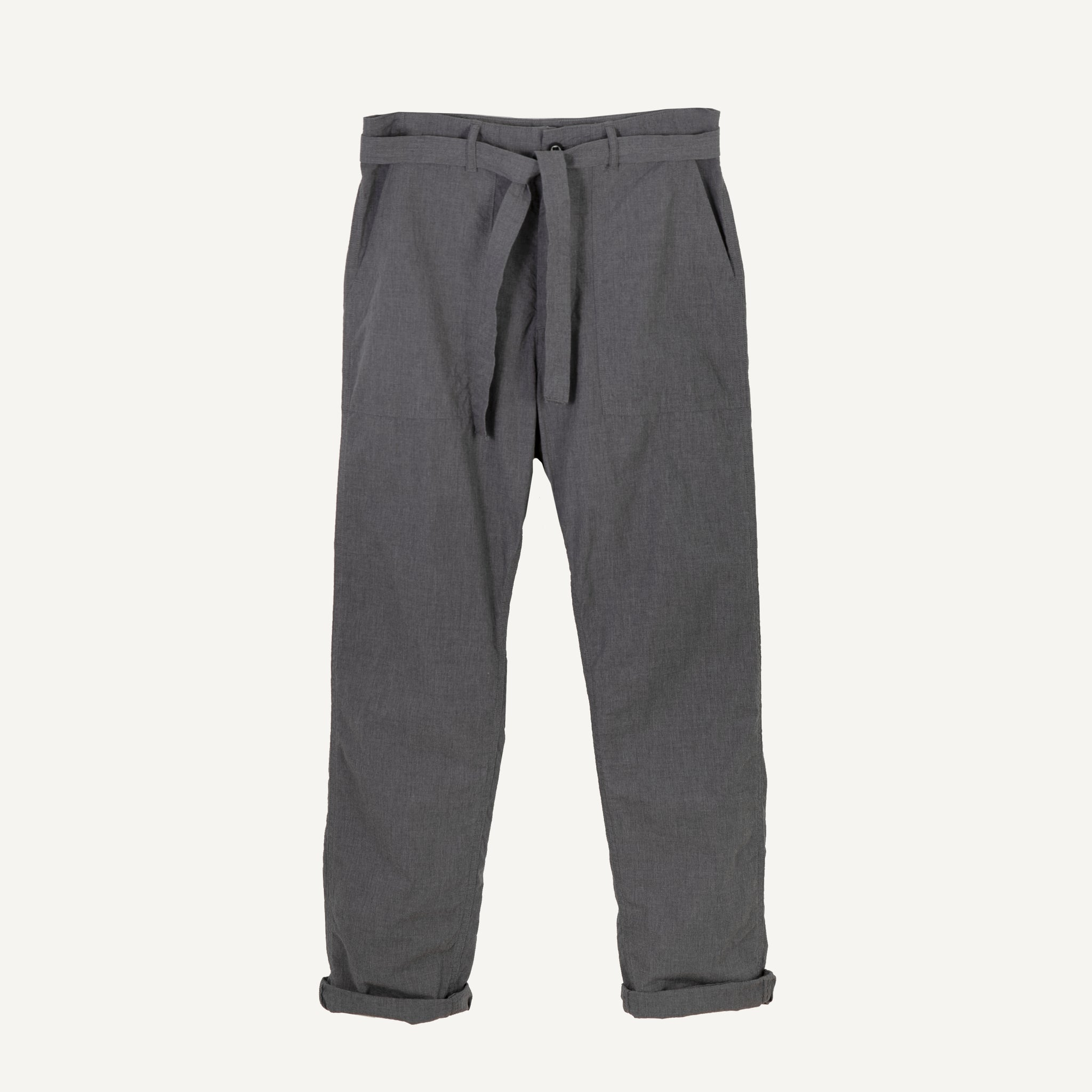 A VONTADE UTILITY TROUSERS WITH BELT MID GREY