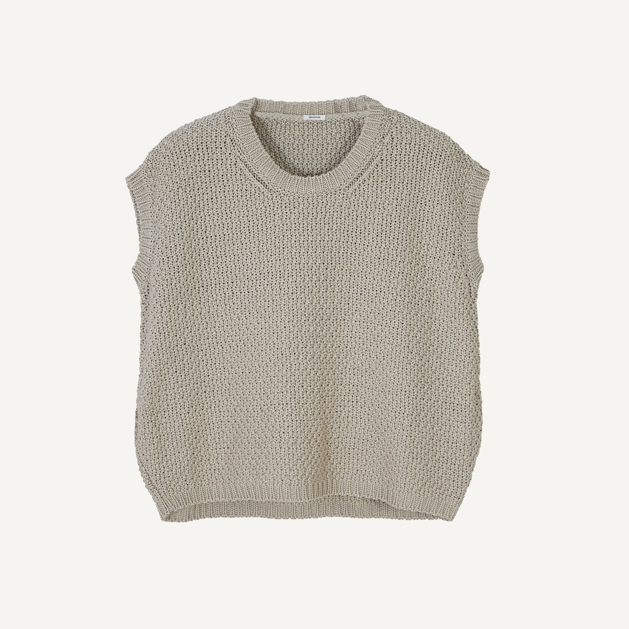 APUNTOB OPEN-KNIT SWEATER SHELL