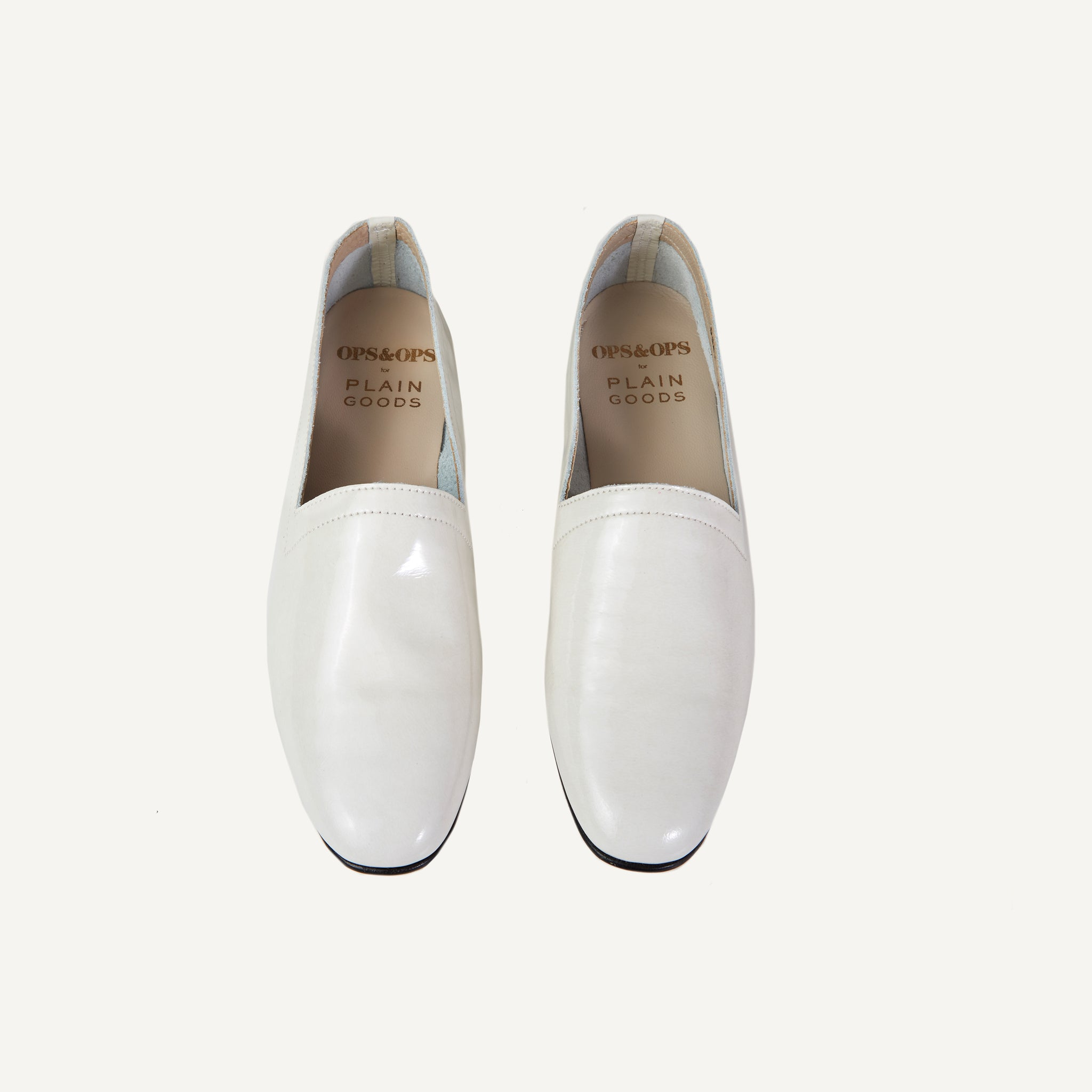 PLAIN GOODS + OPS & OPS WHITE SAND LOAFER
