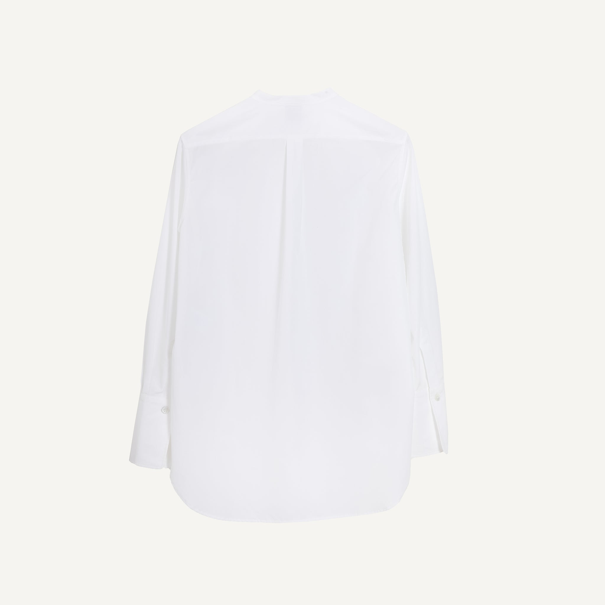 ASPESI POPLIN BAND COLLAR SHIRT
