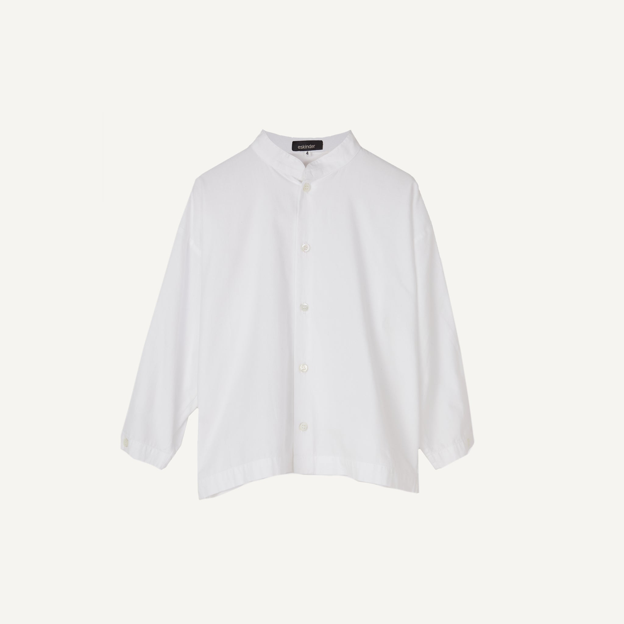 ESKINDER COLLARLESS SHIRT