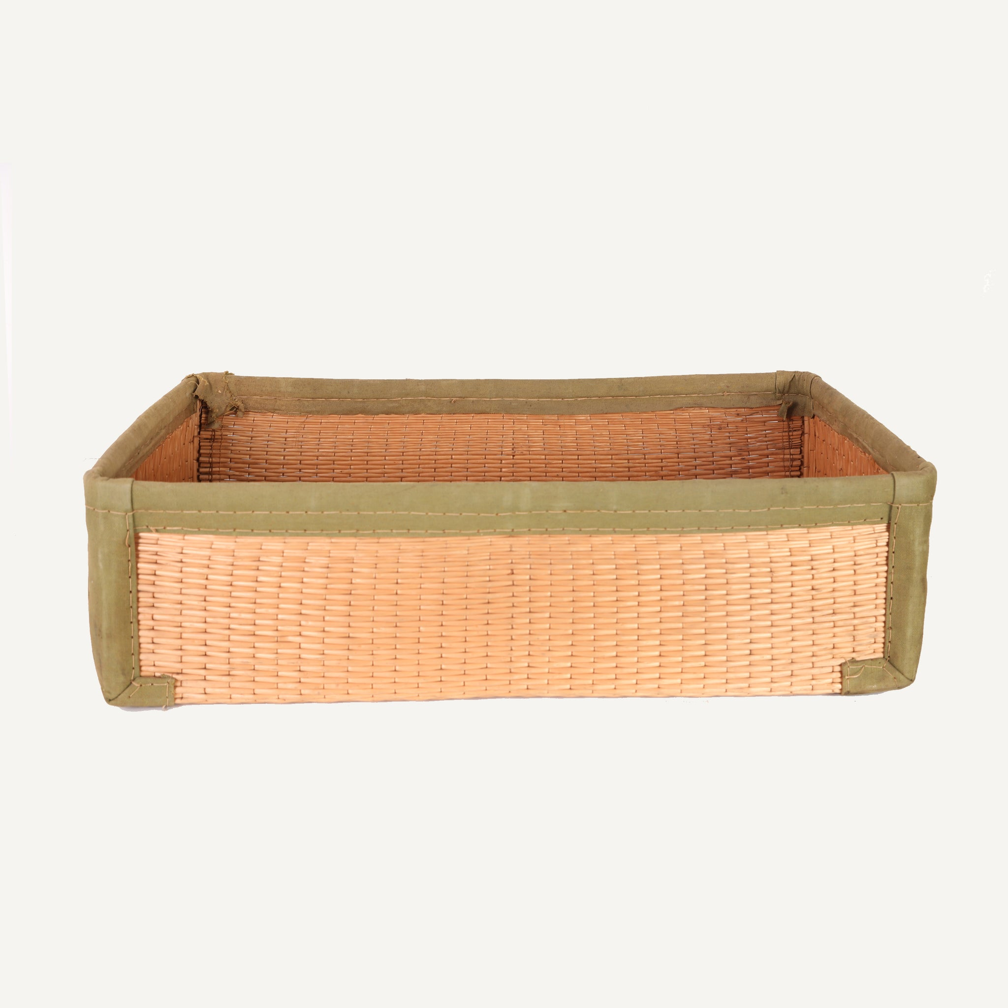 ANTIQUE REED TRAVELING BASKET