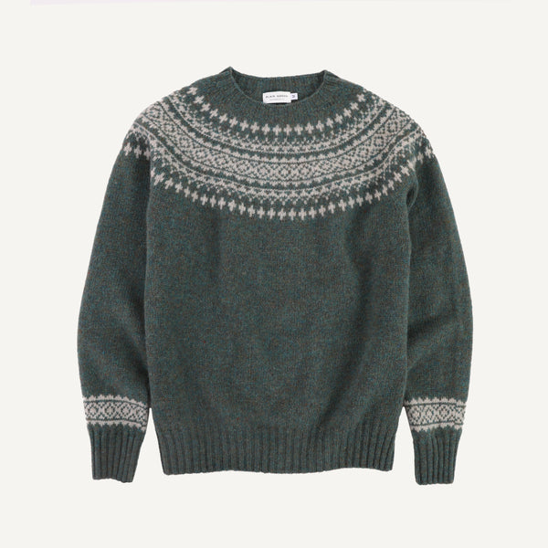 PLAIN GOODS WOMEN'S FAIR ISLE SWEATER