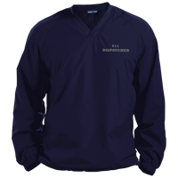 911 Dispatch Sport-Tek Pullover V-Neck Windshirt Jackets CustomCat True Navy X-Small