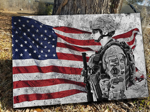 American Soldier Canvas Decor ViralStyle