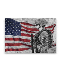 American Soldier Canvas Decor ViralStyle Premium OS Canvas - Landscape 24x16*