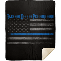 Blessed Are The Peacemakers Premium Mink Sherpa Blanket Blankets Black 50x60