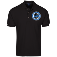 Caps 4 Cops Cotton Knit Polo Polo Shirts Black X-Small