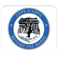 Caps4Cops Beyond the Badge Mousepad 7.75x9.25 inch