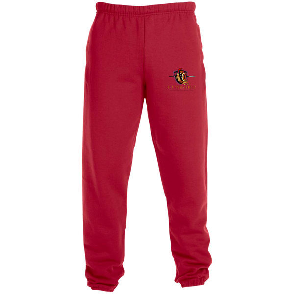 Coppershield 4850MP Jerzees Sweatpants with Pockets Pants CustomCat True Red S