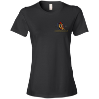 Coppershield 880 Anvil Ladies' Lightweight T-Shirt 4.5 oz T-Shirts CustomCat Black S