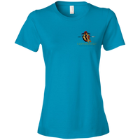 Coppershield 880 Anvil Ladies' Lightweight T-Shirt 4.5 oz T-Shirts CustomCat Caribbean Blue S
