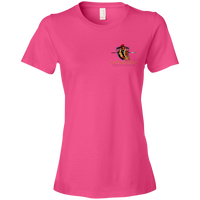 Coppershield 880 Anvil Ladies' Lightweight T-Shirt 4.5 oz T-Shirts CustomCat Hot Pink S