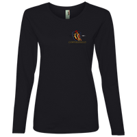 Coppershield 884L Anvil Ladies' Lightweight LS T-Shirt T-Shirts CustomCat Black S