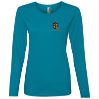 Coppershield 884L Anvil Ladies' Lightweight LS T-Shirt T-Shirts CustomCat Caribbean Blue S