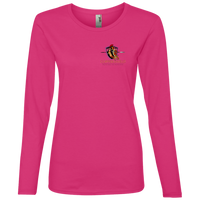 Coppershield 884L Anvil Ladies' Lightweight LS T-Shirt T-Shirts CustomCat Hot Pink S