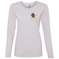Coppershield 884L Anvil Ladies' Lightweight LS T-Shirt T-Shirts CustomCat White S
