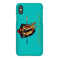 Coppershield - Blue iPhone X Phone Cases Premium Glossy Snap Case iPhone X