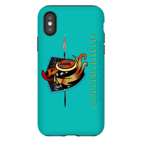 Coppershield - Blue iPhone X Phone Cases Premium Glossy Tough Case iPhone X