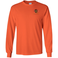 Coppershield G240 Gildan LS Ultra Cotton T-Shirt T-Shirts CustomCat Orange S