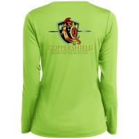 Coppershield LST353LS Sport-Tek Ladies' LS Performance V-Neck T-Shirt T-Shirts CustomCat
