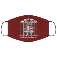Corrections Open Bars Face Cover Accessories Maroon One Size