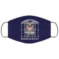 Corrections Open Bars Face Cover Accessories Navy One Size