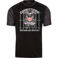 Corrections Thin Grey Line Open Bars Atheltic Shirt T-Shirts Black/Iron Grey X-Small