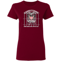 Corrections Thin Grey Line Open Bars T-Shirt T-Shirts Garnet S
