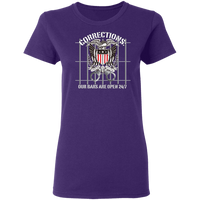 Corrections Thin Grey Line Open Bars T-Shirt T-Shirts Purple S