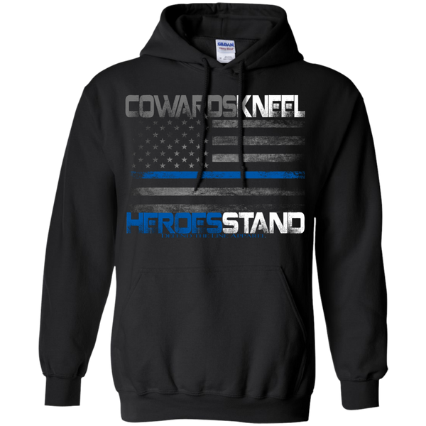 Cowards Kneel Hoodie Sweatshirts CustomCat Black Small