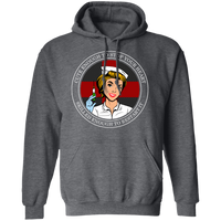 Cross Your Heart Nurse Hoodie Sweatshirts Dark Heather S
