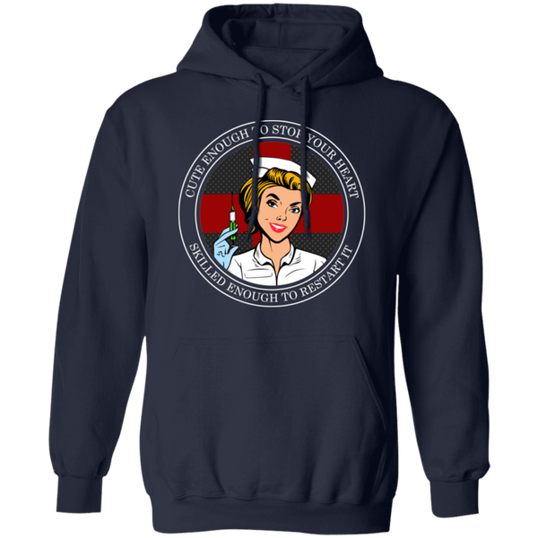 Cross Your Heart Nurse Hoodie Sweatshirts Navy S