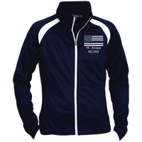Custom 27 - Ladies' Raglan Sleeve Warmup Jacket Jackets True Navy/White X-Small