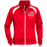 Custom 27 - Ladies' Raglan Sleeve Warmup Jacket Jackets True Red/White X-Small