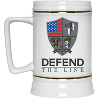 Defend The Line Beer Stein Drinkware White One Size
