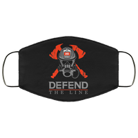 Defend The Line Firefighter Face Cover Accessories Black One Size