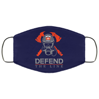 Defend The Line Firefighter Face Cover Accessories Navy One Size