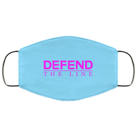 Defend The Line Pink Face Cover Accessories Columbia Blue One Size