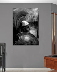 Defend The Line Spartan Canvas Decor ViralStyle