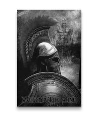 Defend The Line Spartan Canvas Decor ViralStyle Premium OS Canvas - Portrait 24x36*