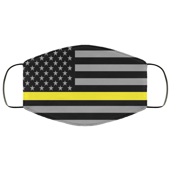 Dispatcher Thin Yellow Line Flag Face Cover Accessories White One Size